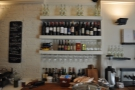 Wine, one of Fernandez & Wells' main selling points, is in evidence next to the cheese...