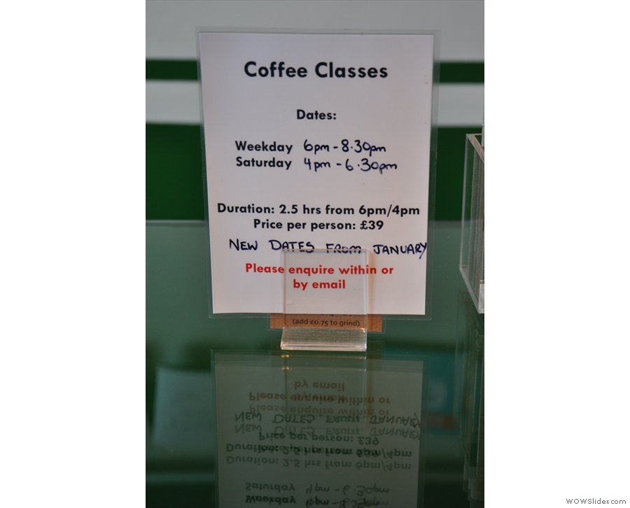 If that's whetted your appetite, Coffee Affair also runs evening classes...