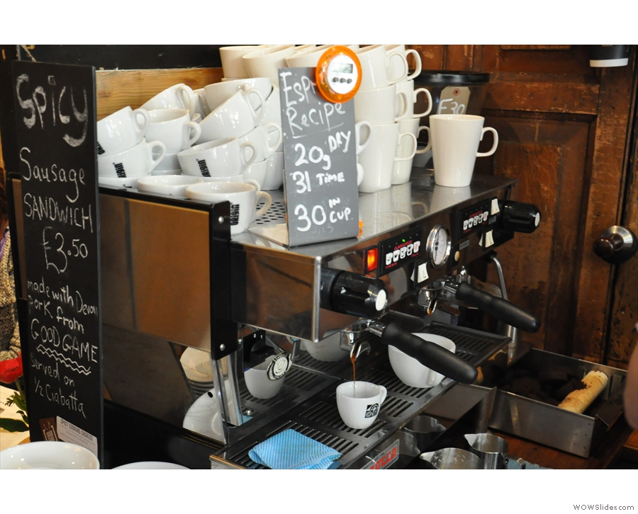 The La Marzocco in action...