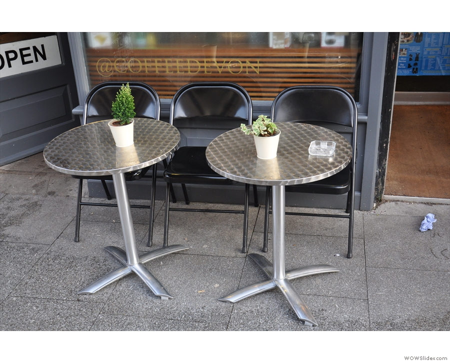 There are also tables should you want to sit outside on the relatively quiet Queen Street.