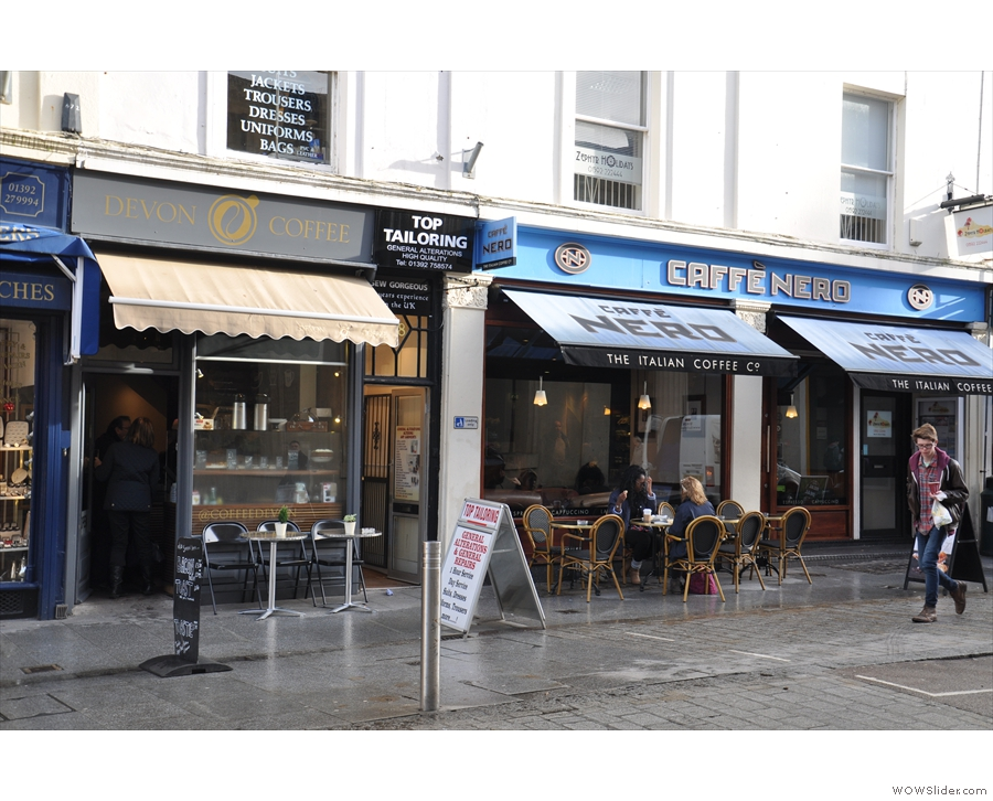Look, just next door: a lovely Caffe Nero. Why would you go in there when Devon Coffee's so close?