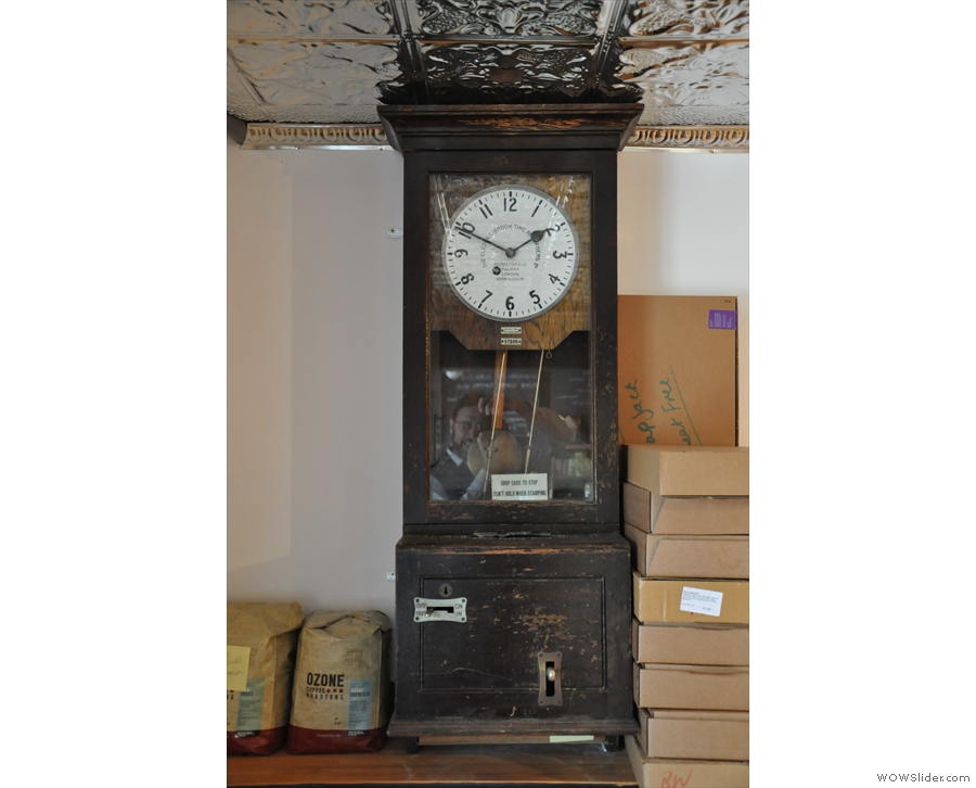 I also liked this old clock which was used for punching cards (to keep track of workers).