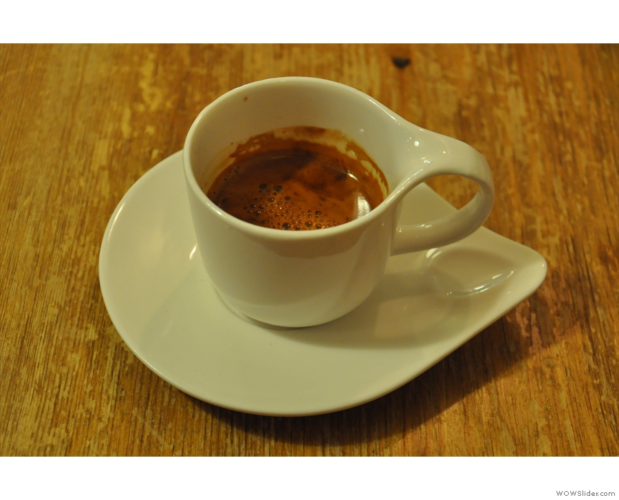 I went for the Brazil... A very fine espresso in an even finer cup!