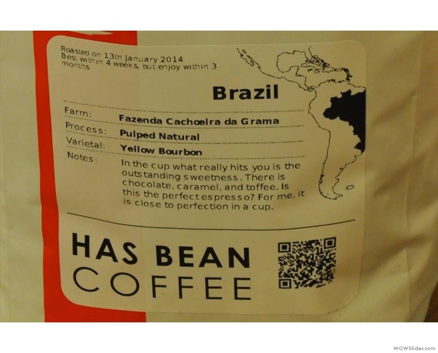 Tasting notes for the Brazil...