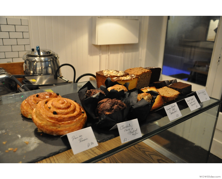 ... along with pastries, muffins and loaves.