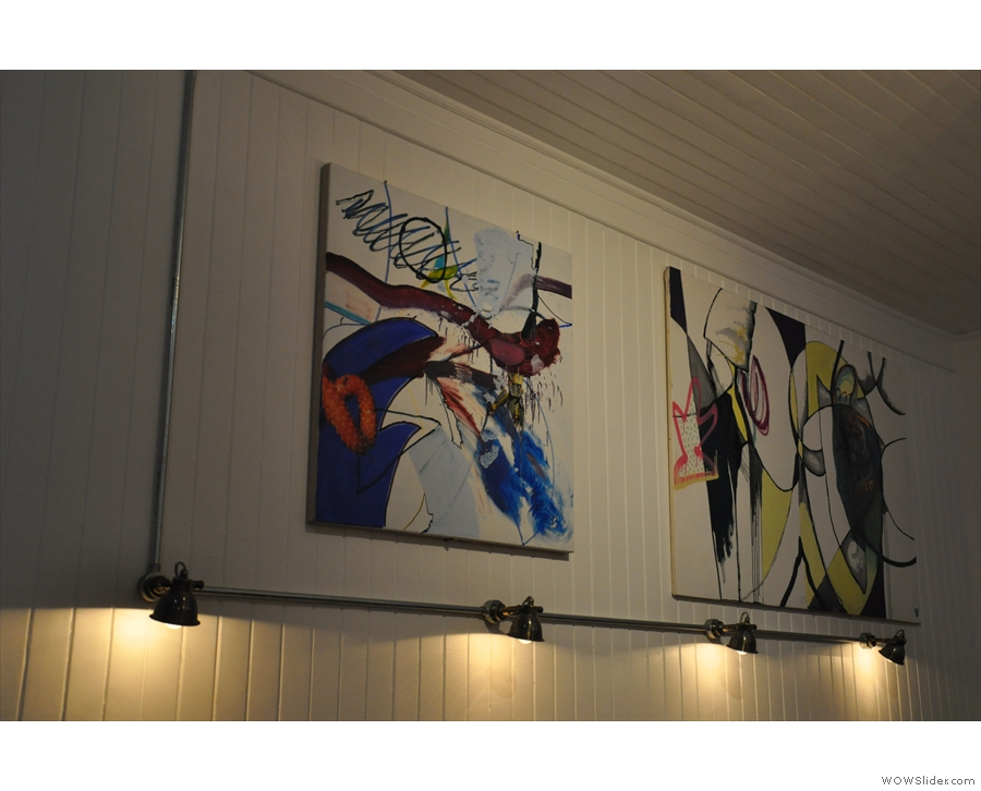 Some of the artwork on the walls.