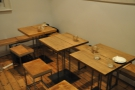 More of the tables at the back.