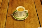 What a lovely espresso and in such a lovely cup and saucer. It would be a shame to knock it over...