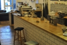 A view from the other end of the bar. The stools are a nice touch if you want to perch and chat to the baristas