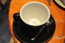 A poor picture, but look how clean that cup is!