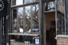 Bluebird Coffee Shop, as seen from the 1st Avenue side of 1st Street...