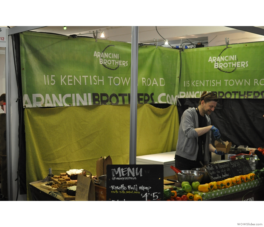 Don't forget to eat. A highlight last year was lunch from the Arancini Brothers...