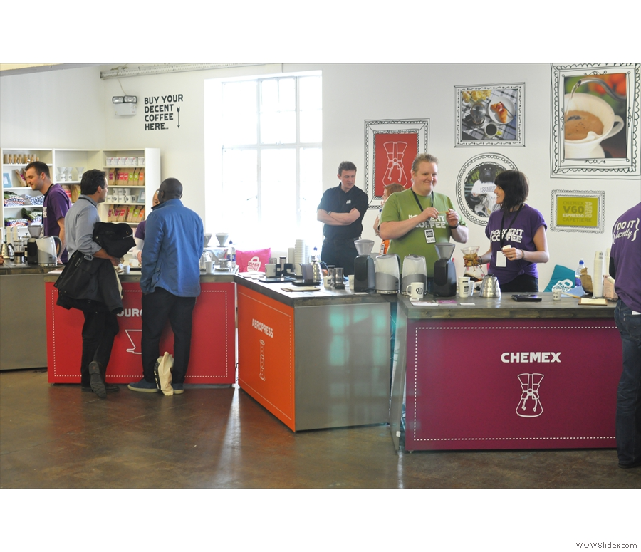If you prefer making your own, head to the Make Decent Coffee Lounge where experts are on hand.