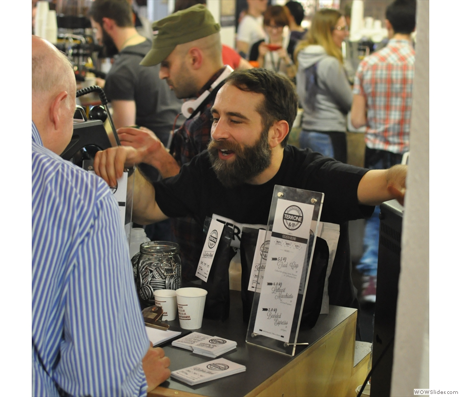 Let's start with the True Artisan Cafe and Edy, the man behind Terrone Coffee.