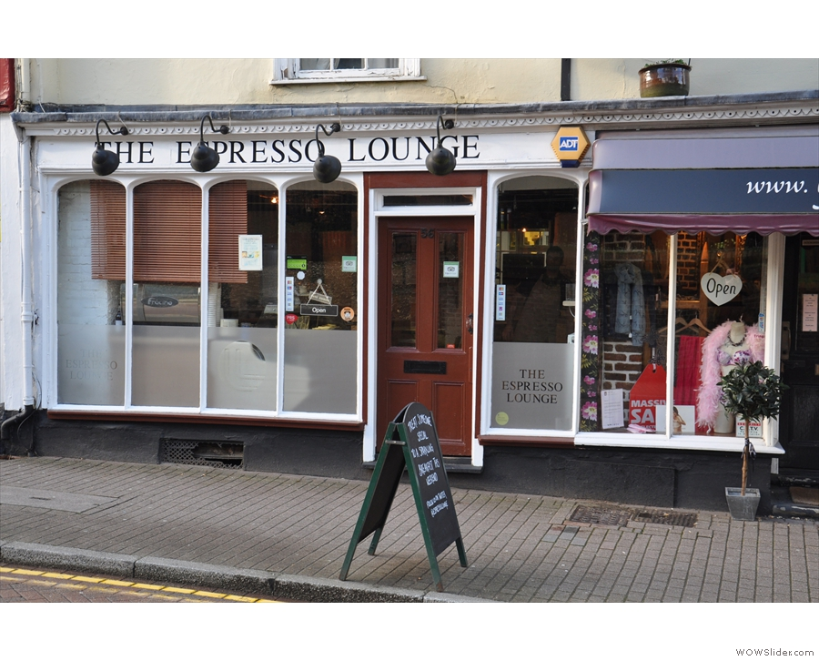 The Espresso Lounge on the High Street, Tring.