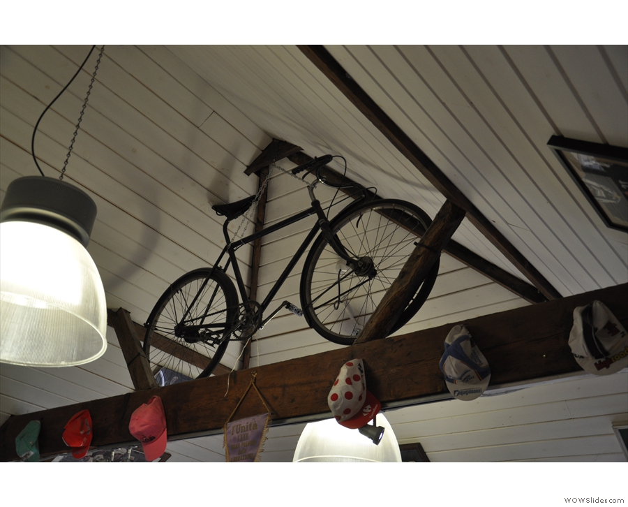 Just in case you forget you're in a bike cafe!