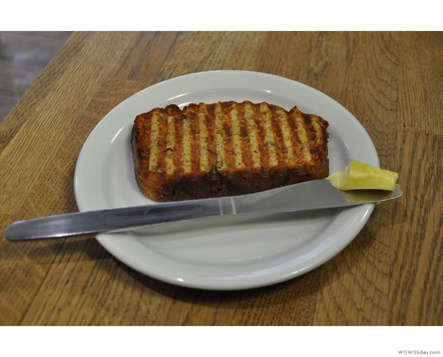 OK, enough stalling. Here's a slice of the banana bread. Dan & Dan made me eat it, honest!