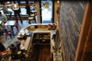 ... or down over the counter. Nice marble worktop!