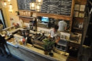 Barista William hard at work at the espresso machine. Time to go down to say hello.