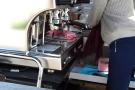 Here JOCO Cup admires Can Do Coffee's lever espresso machine.