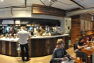 A panorama from the opposite the counter.