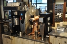 Time for the coffee, which has been pre-weighed in cylinders (right of picture).