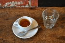 More coffee options here: this espresso came from Pavement Coffeehouse on Boylston.