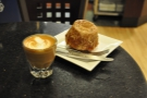 I may also have found a new favourite... Render Coffee, with this lovely cortado and bun.