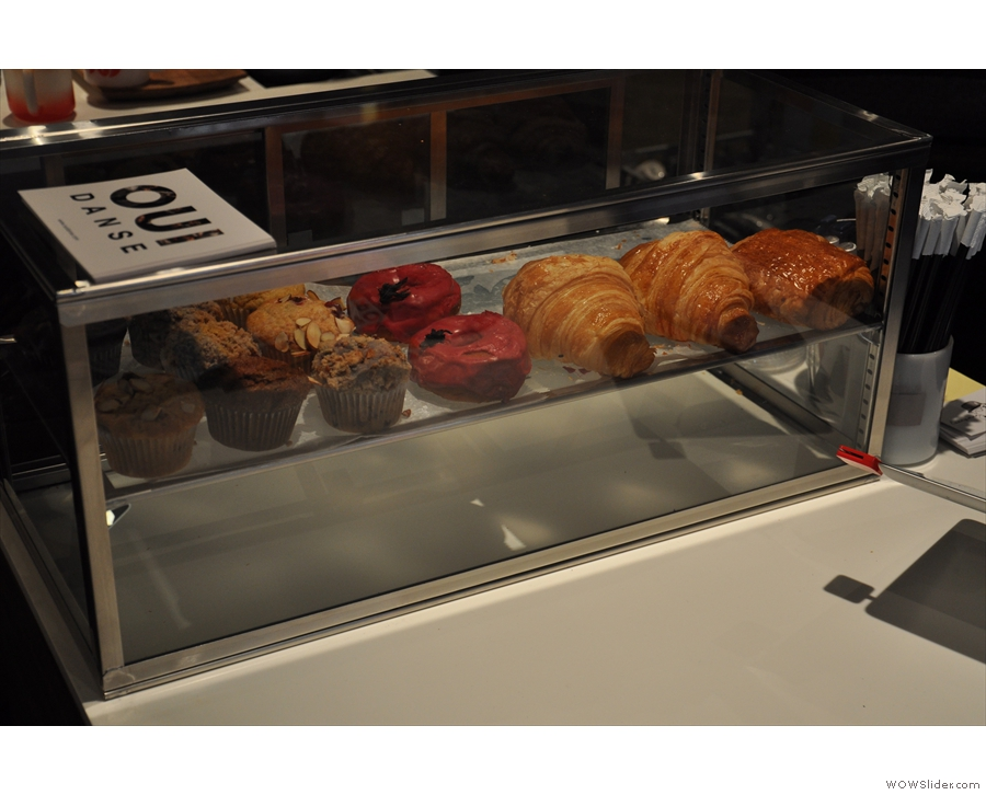 It's not just coffee though. Here is the pastry/cake selection.