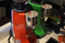 The grinders add a splash of colour, as if more were needed :-)