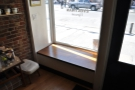 One of the window seats in more detail.