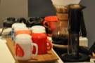 Now an Aeropress has joined it. Nice to see the inverted method in use.