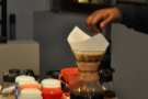 The Aeropress is being decanted for drinking, hidden just behind the Chemex.