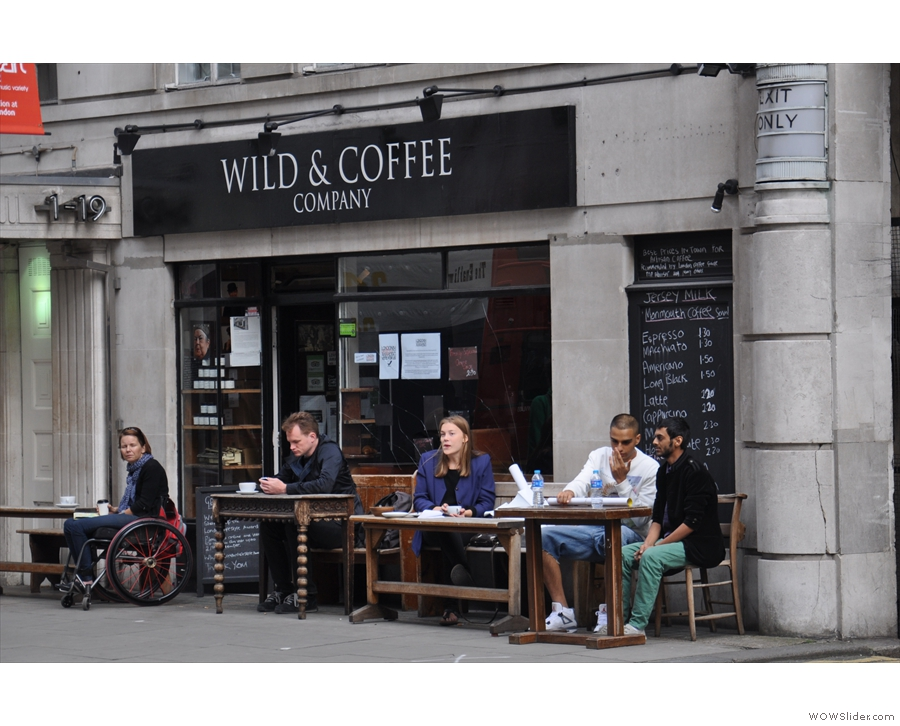 Wild & Wood on New Oxford Street with its ever-popular outside seating
