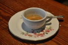 Normally I like my espresso in a small cup, but for a cup this beautiful, I'll make an exception.