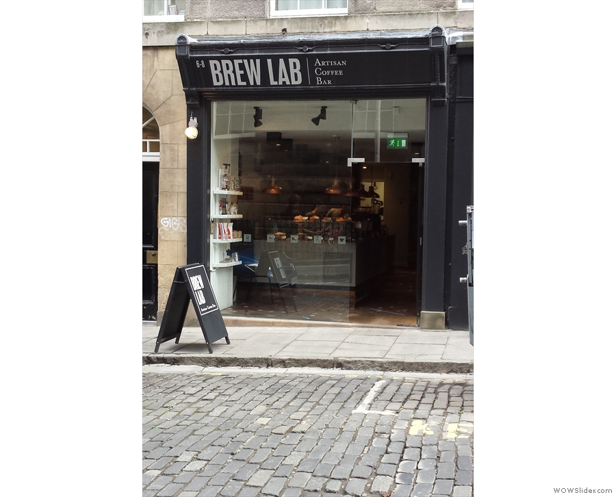 Brew Lab, on Edinburgh's South College Street, now sans scaffolding.
