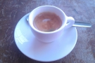 And, from my visit before Christmas, another espresso, this time in a cup.
