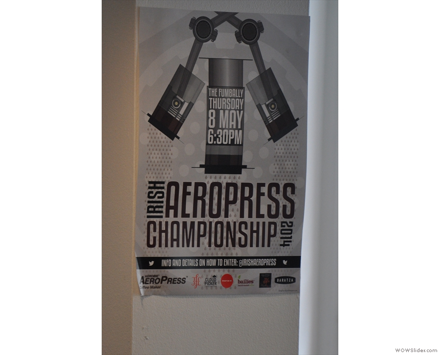 The standard filter offering is the Aeropress. Talking of which... I arrived in Dublin a day late for the Irish Aeropress championships and missed the Scottish ones while I was out there!
