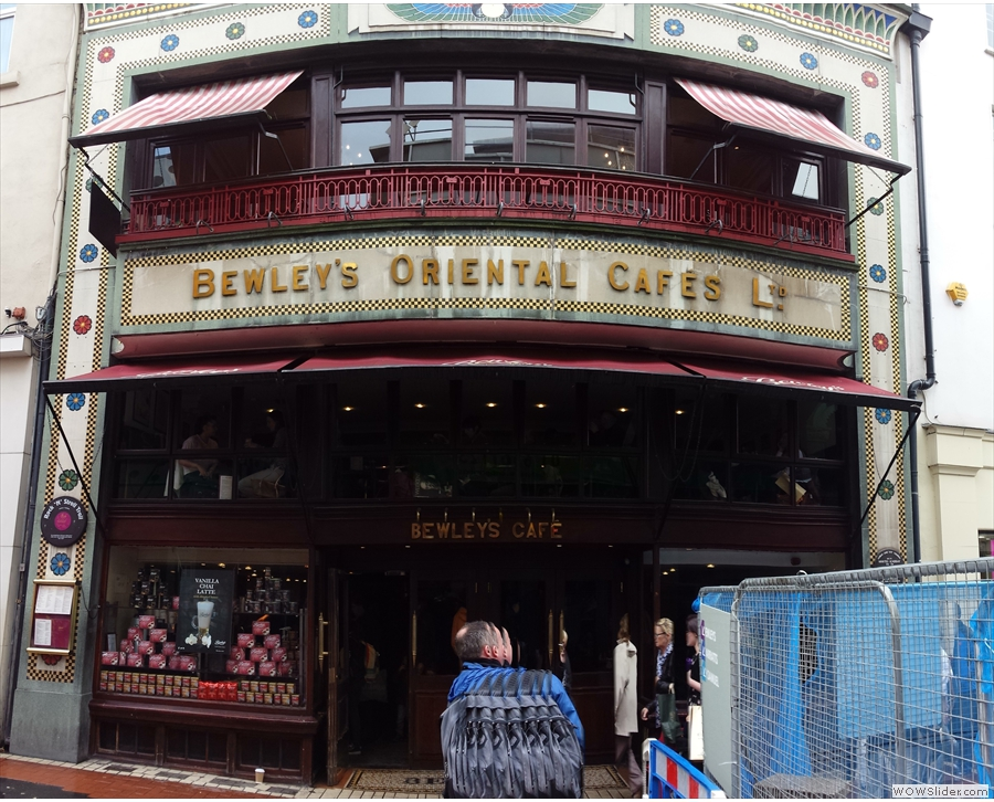 Bewley's Oriental Cafes Ltd on Grafton Street. With a big hole in front of it!