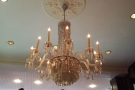 This chandelier is typical of the oppulence...