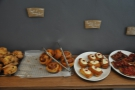 Cinnamon and walnut scrolls, Friandes, shortcrust tarts...
