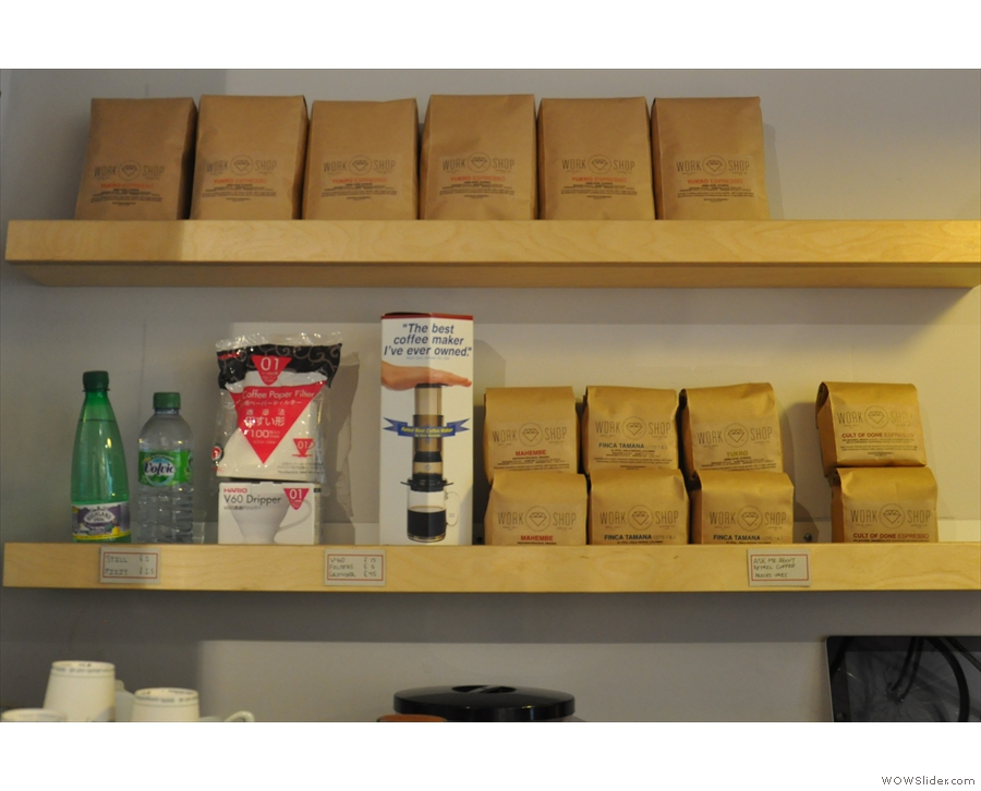 ... a shelf for the beans (and some kit)...