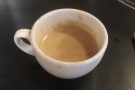 My espresso, which was surprisingly fruity, until I realised it wasn't 'Cult of Done'.