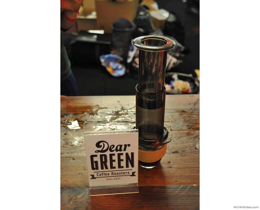 Let's start with Dear Green, shown here at the London Coffee Festival.