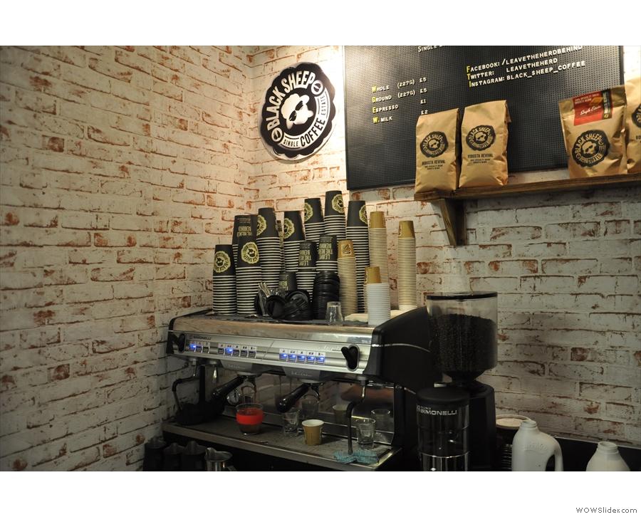 Keep Cup #2 getting a shot of Black Sheep espresso...