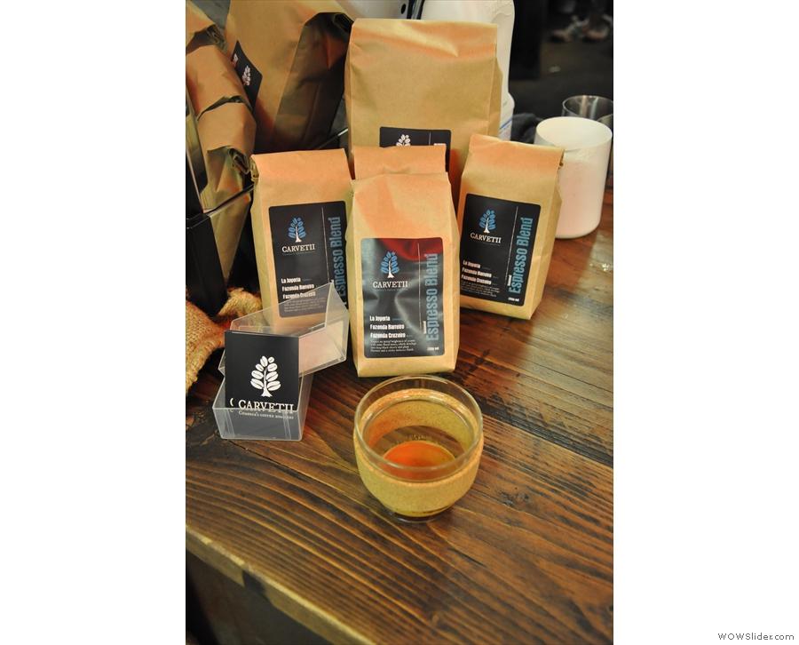 Keep Cup #1 gets a shot of Carvetii's espresso blend.