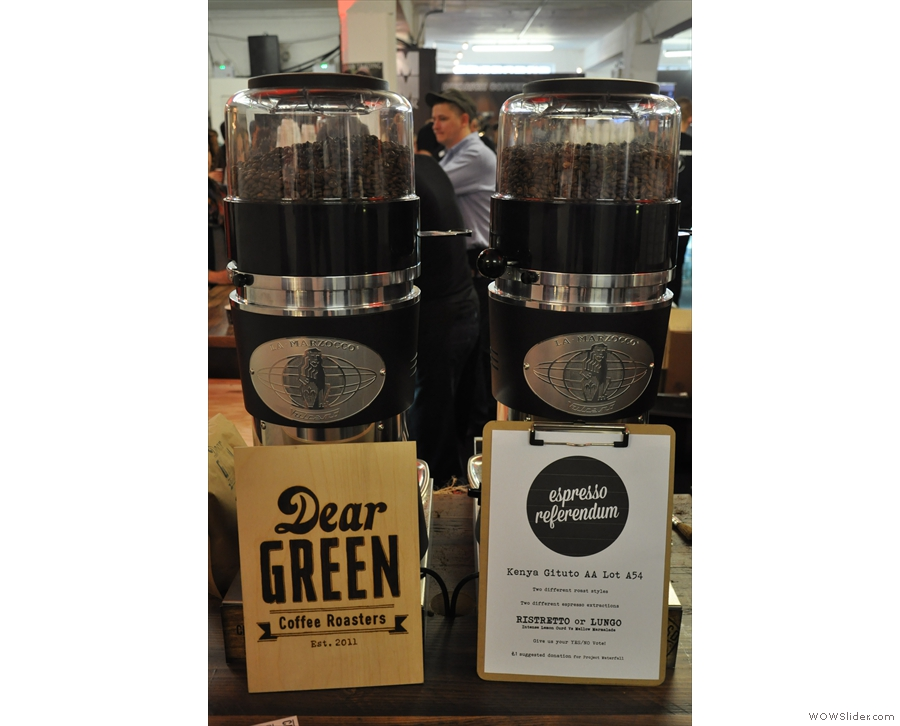 Dear Green Coffee, with its 'espresso referendum'. Independence for espresso, anyone?