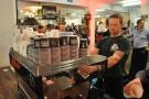 Head barista Martin has hit on the idea of putting an espresso shot through an Aeropress...