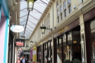 The High Street Arcade in Cardiff, home of the Barker Tea House...