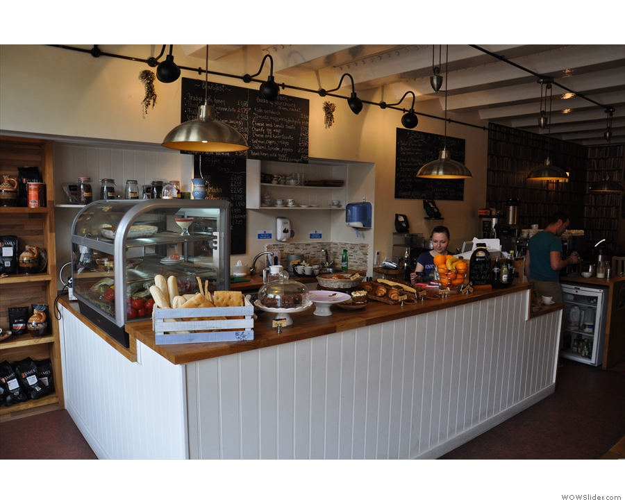 A view of the counter, to your left as you come in...
